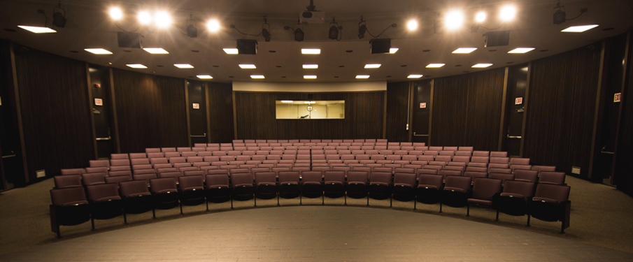 Wide shot of the Lecture/Recital Hall available for rental.