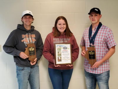 1st Place: Overall Livestock Specialty Team at state & national levels
