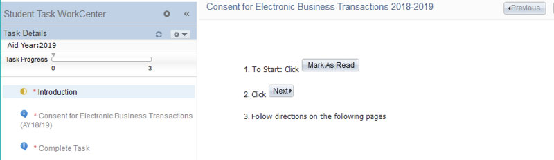 Second screenshot of E-Consent Process
